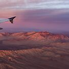 Loving the Window Seat - Pink Dawn Over the High Mojave Desert by Georgia Mizuleva