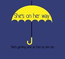 She's on her way Unisex T-Shirt