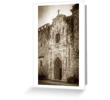 Mission San Jose Facade Greeting Card