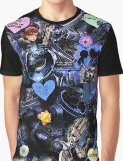 Mass Effect - Garrus Vakarian Collage Graphic T-Shirt