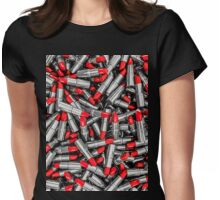Lipstick chrome Womens Fitted T-Shirt