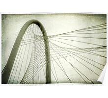 Margaret Hunt Hill Bridge Shooting Upwards Poster