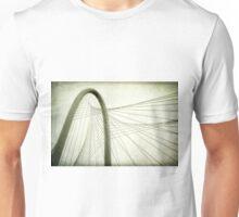 Margaret Hunt Hill Bridge Shooting Upwards Unisex T-Shirt
