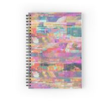 Diadem Pink Space Collage Spiral Notebook
