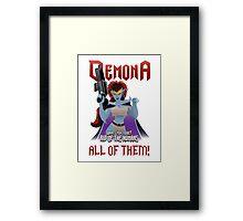Demona Campaign Framed Print