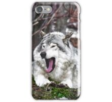 Just Yawning - Timber Wolf iPhone Case/Skin