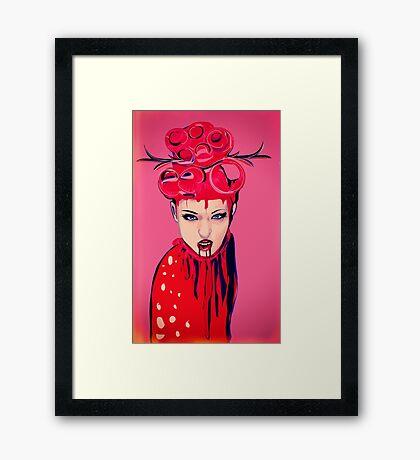 pink blood girl Framed Print