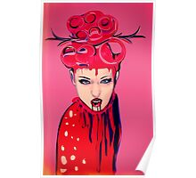 pink blood girl Poster