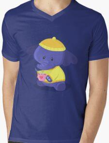 Elephant Winter Times Mens V-Neck T-Shirt