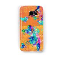 world map orange Samsung Galaxy Case/Skin