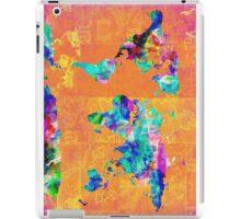 world map orange iPad Case/Skin