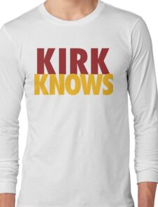 Kirk Knows DC Redskins Cousins Football by AiReal Apparel Long Sleeve T-Shirt
