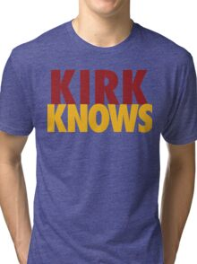 Kirk Knows DC Redskins Cousins Football by AiReal Apparel Tri-blend T-Shirt