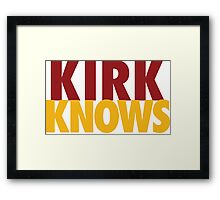 Kirk Knows DC Redskins Cousins Football by AiReal Apparel Framed Print