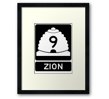 Utah 9 - Zion National Park Framed Print