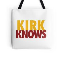Kirk Knows DC Redskins Cousins Football by AiReal Apparel Tote Bag