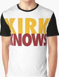 Kirk Knows DC Redskins Cousins Football by AiReal Apparel Graphic T-Shirt