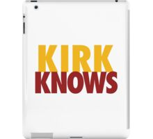 Kirk Knows DC Redskins Cousins Football by AiReal Apparel iPad Case/Skin