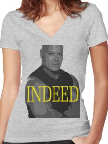 INDEED Women's Fitted V-Neck T-Shirt