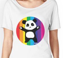 Rainbow Panda Hugs Women's Relaxed Fit T-Shirt