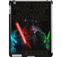 Alvin And The Chipmunks may the munks be with you munks wars 2015 iPad Case/Skin