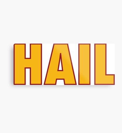 HAIL HTTR Redskins DC by AiReal Apparel Metal Print