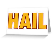 HAIL HTTR Redskins DC by AiReal Apparel Greeting Card
