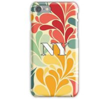 Floral New York iPhone Case/Skin