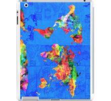 world map blue iPad Case/Skin