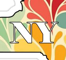 Floral New York Sticker