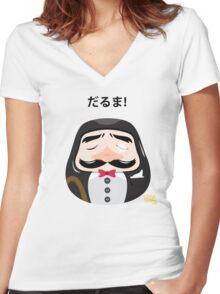 Mr Daruma Women's Fitted V-Neck T-Shirt