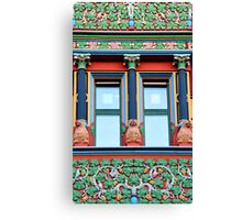 Town Hall Window With Monkeys Canvas Print