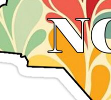 Floral North Carolina Sticker