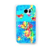 world map collage Samsung Galaxy Case/Skin