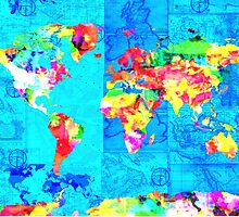 world map collage by BekimART