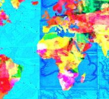 world map collage Sticker