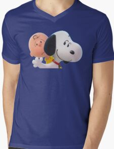 charlie brown and snoopy the peanuts movie 2 Mens V-Neck T-Shirt