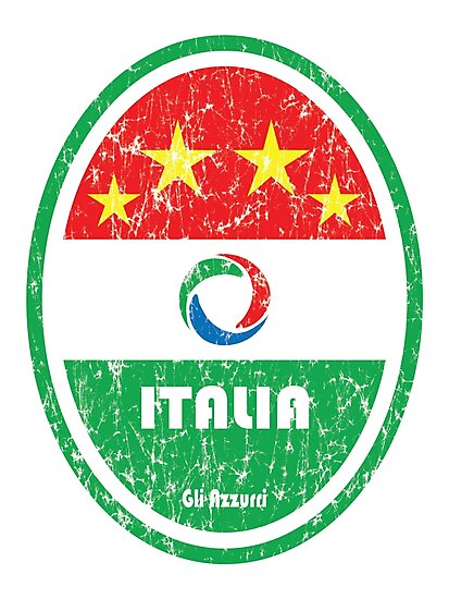 World Cup Football 2/8 - Italia (Distressed) by madeofthoughts