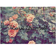 Love Yourself PURPOSE Justin Bieber Photographic Print