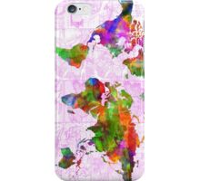 world map collage 2 iPhone Case/Skin