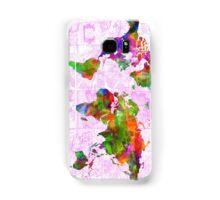 world map collage 2 Samsung Galaxy Case/Skin