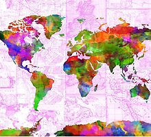 world map collage 2 by BekimART