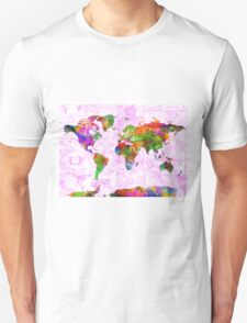 world map collage 2 T-Shirt