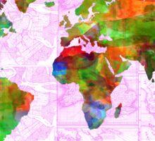world map collage 2 Sticker