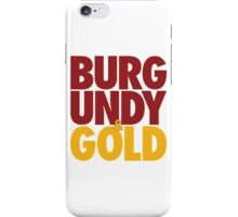 Burgundy & Gold Redskins DC Football by AiReal Apparel iPhone Case/Skin