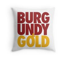 Burgundy & Gold Redskins DC Football by AiReal Apparel Throw Pillow