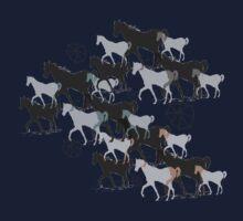 Horses Baby Tee