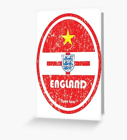 World Cup Football 6/8 - England (Distressed) Greeting Card