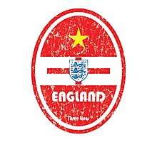 World Cup Football 6/8 - England (Distressed) Photographic Print