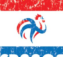 World Cup Football 7/8 - France (Distressed) Sticker